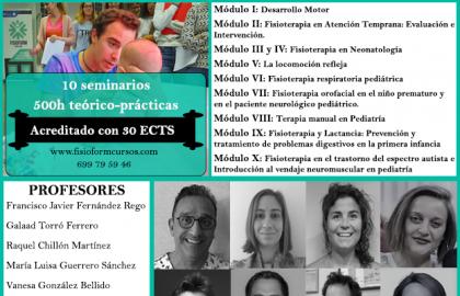 EXPERTO UNIVERSITARIO EN FISIOTERAPIA PEDIÁTRICA Y ATENCIÓN TEMPRANA (Madrid) FISIOFORM-UCAM 30 créditos ECTS