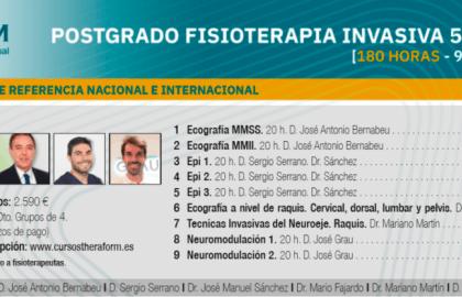 Postgrado fisioterapia invasiva musculoesquelética. 5ª Edición Alicante