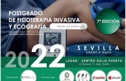 Postgrado Fisioterapia Invasiva y Ecografia Sevilla. Titulo Propio UCAM.  Curso Acreditado.