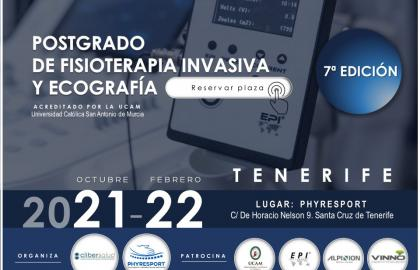 Postgrado Fisioterapia Invasiva y Ecografia Tenerife. Titulo Propio UCAM.  2021-22