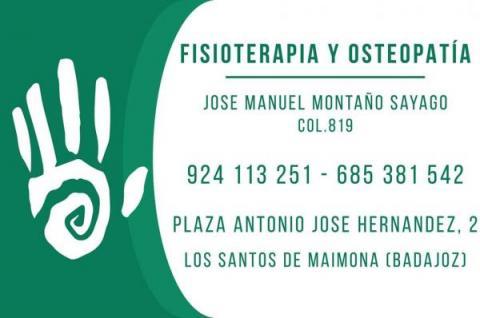 Fisioterapia y Osteopatía José Manuel Montaño Sayago