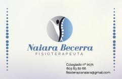 Consulta de fisioterapia Naiara Becerra